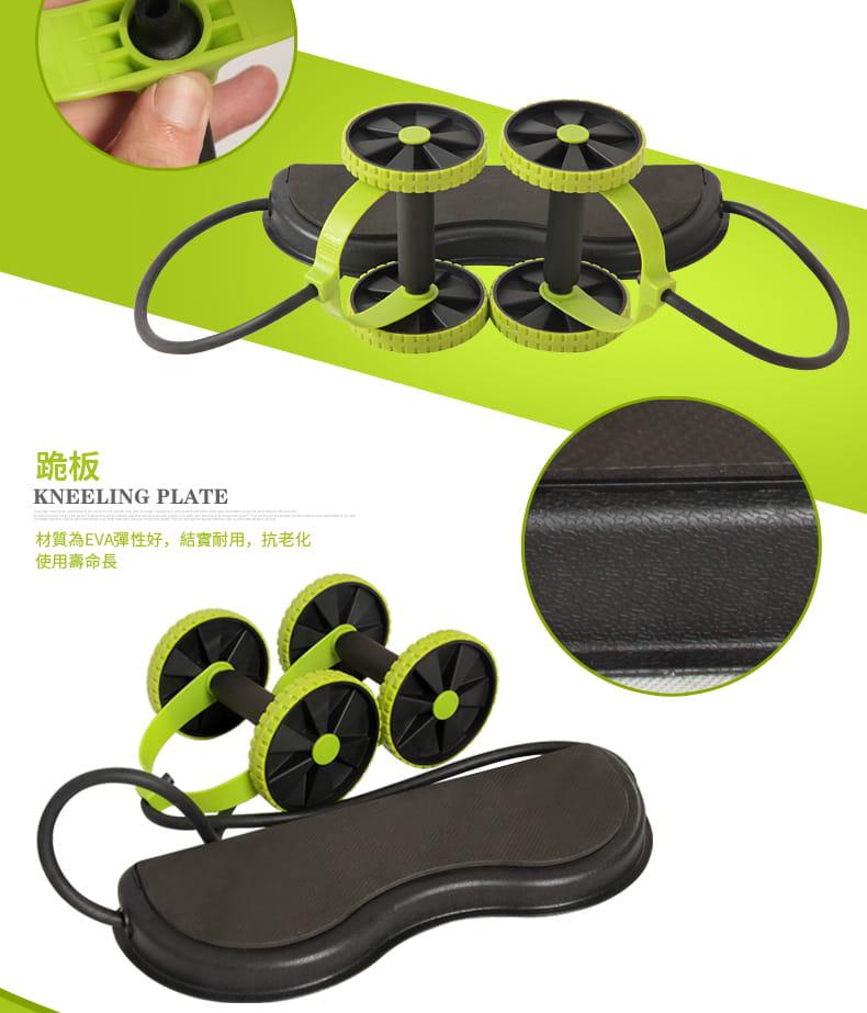 多功能健腹輪 家用腹肌健身滾輪靜音拉力繩減肥鍛煉健身器材 7