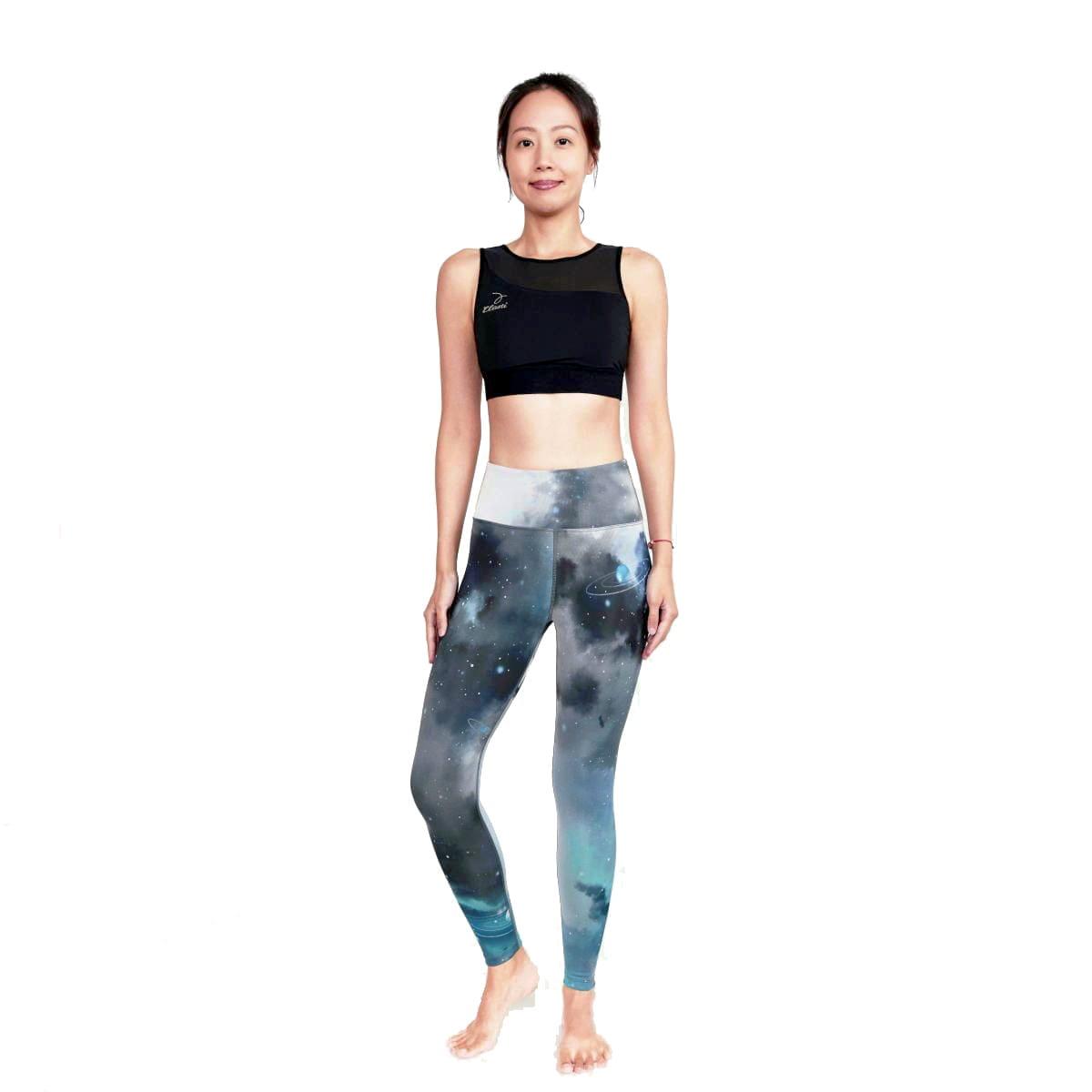 【ELASTI】典莎瑜珈褲(碘紗抗菌除臭機能)-宇宙星系 1