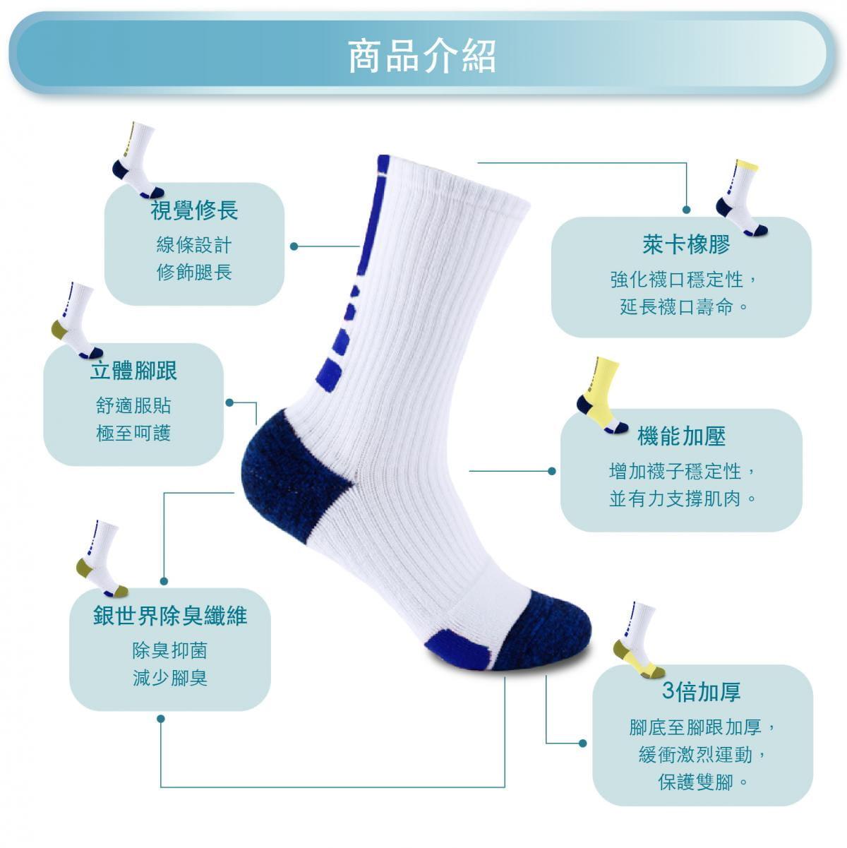 【FAV】除臭機能厚底運動襪 1