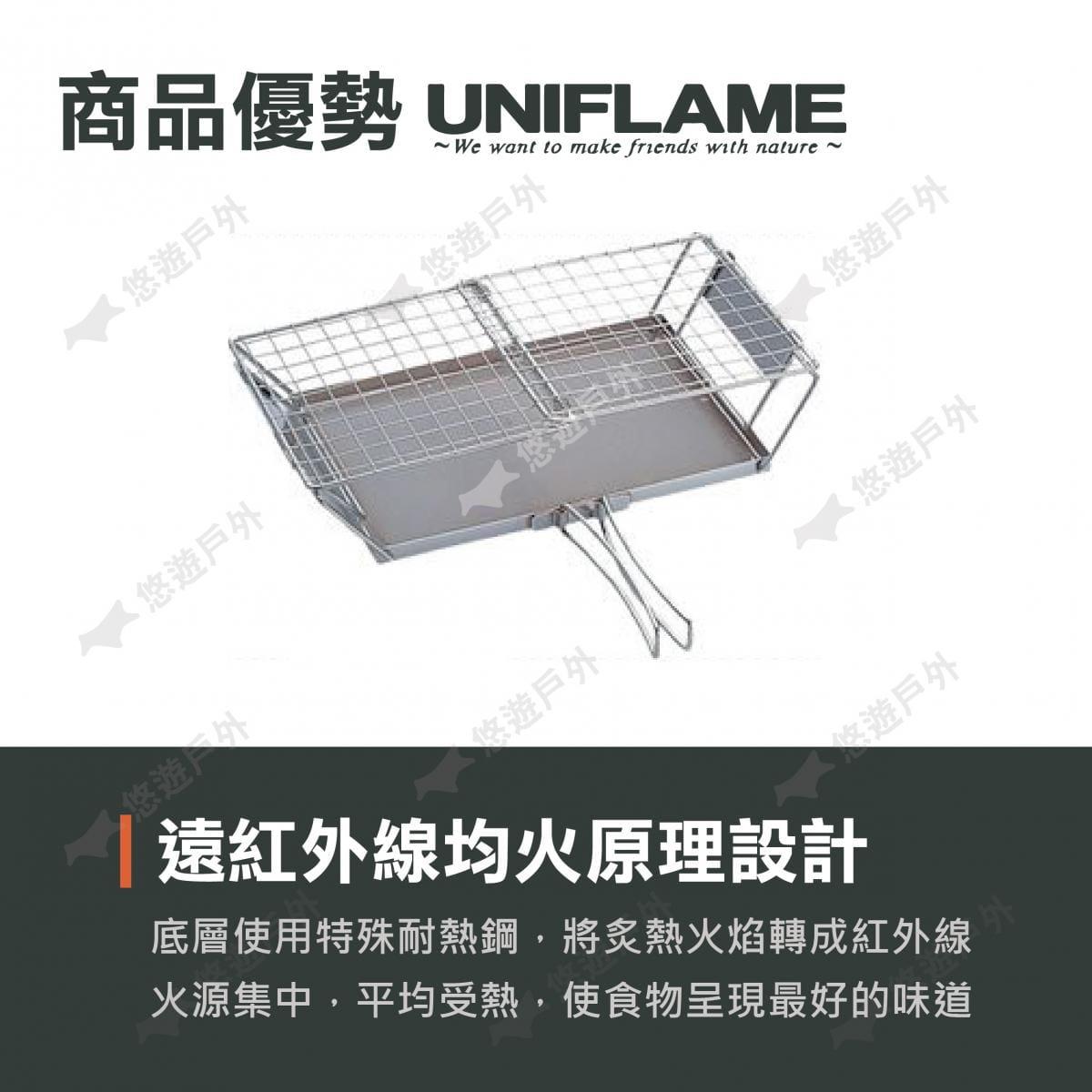 【悠遊戶外】UNIFLAME烤土司架 1