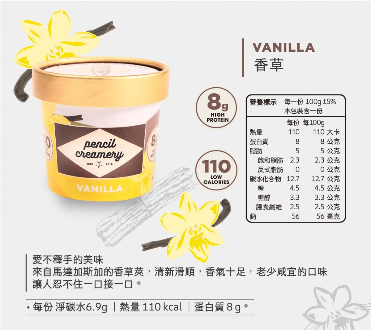【PENCIL CREAMERY】低脂高蛋白冰淇淋6入起/盒(口味任選) 12