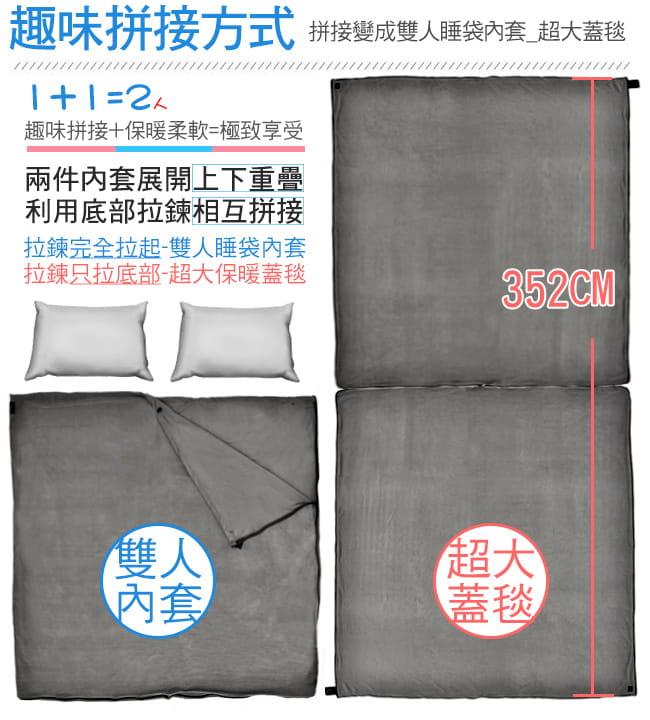 舒適搖粒絨保暖睡袋內套  (抓絨睡袋內膽/露宿袋內袋/空調被空調毯/懶人毯冷氣毯子) 11
