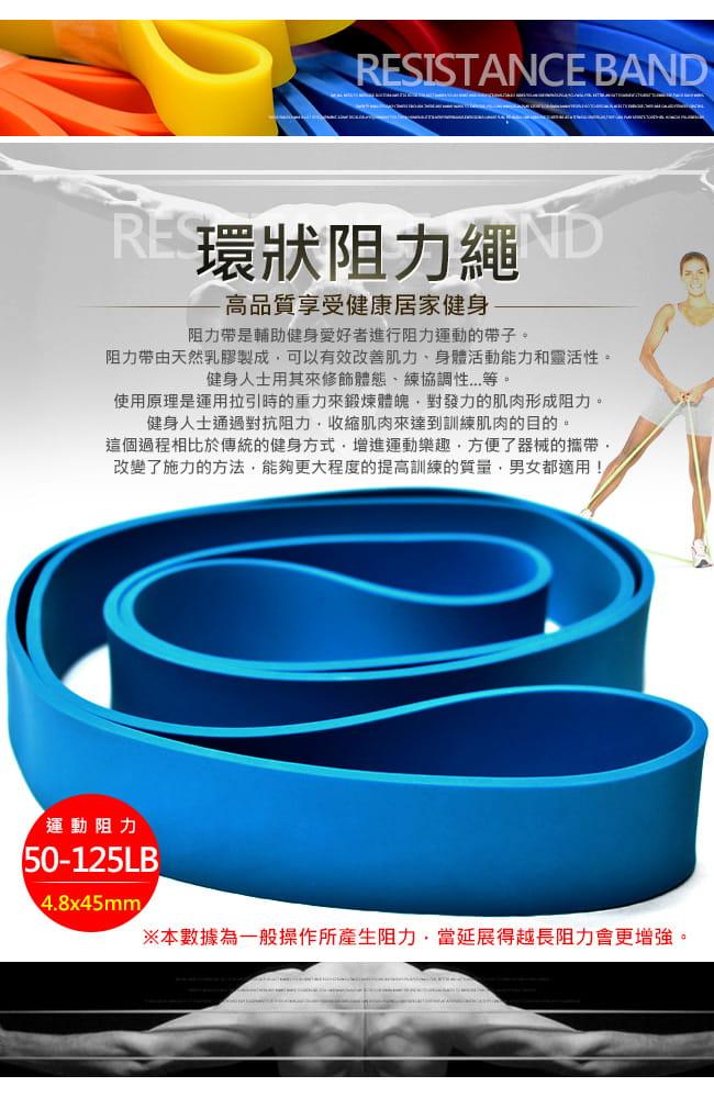 台灣製造125磅大環狀彈力帶   (LATEX乳膠阻力繩.手足阻力帶) 1