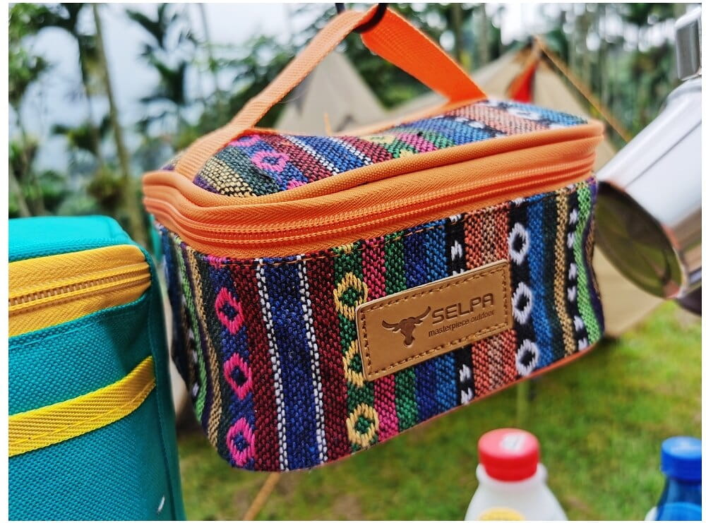 民族風戶外調料盒防水野營收納包調味罐
