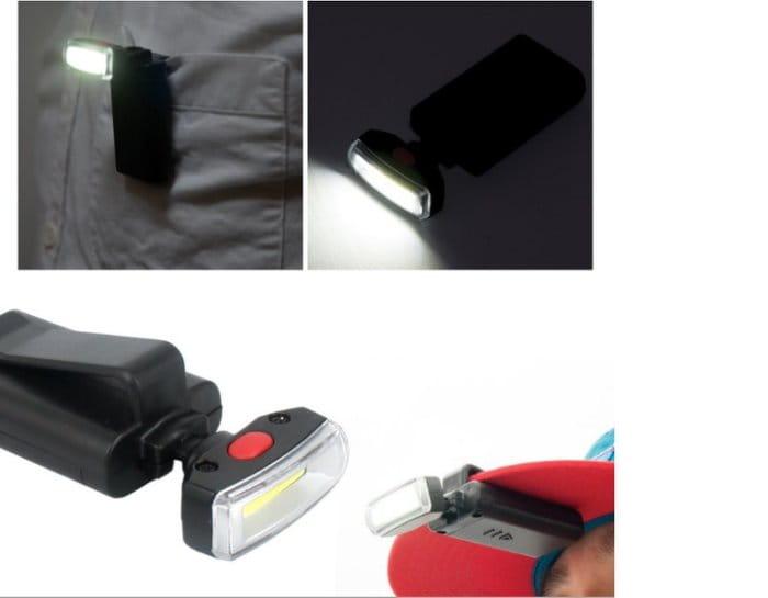 户外登山照明頭燈 LED夾帽燈 1