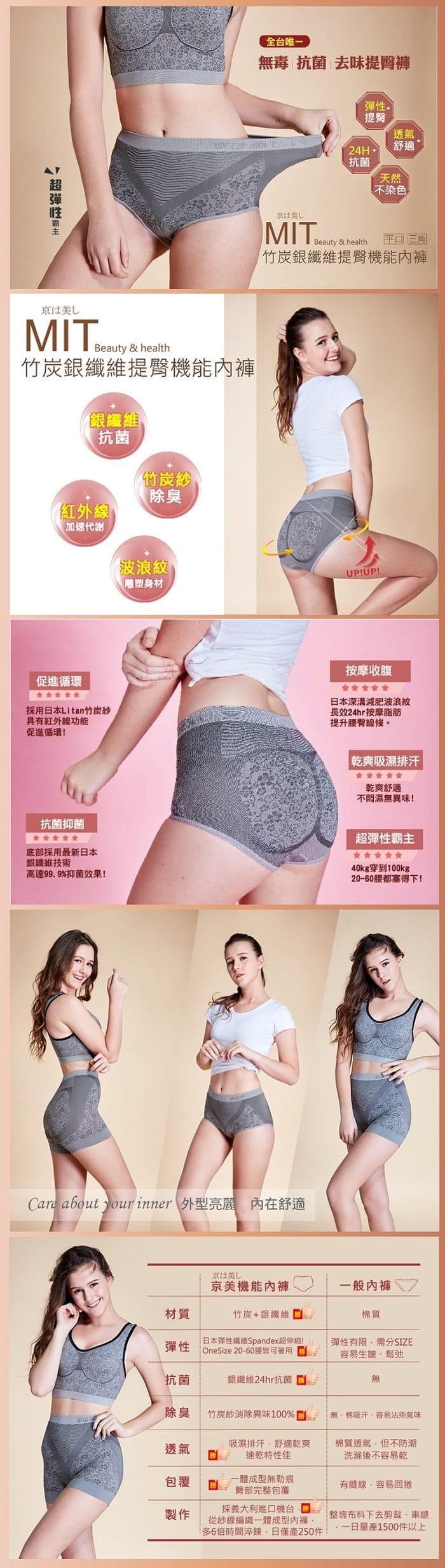 【京美】逆時健康提臀褲 平口款 1