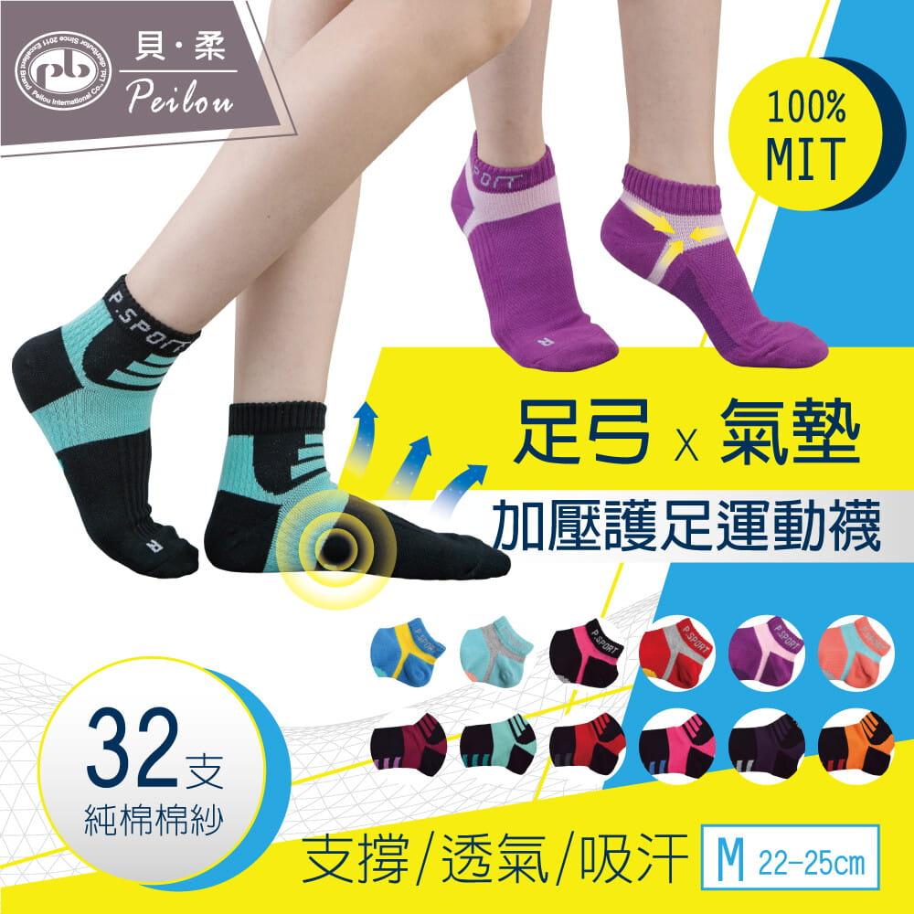 【Peilou】左右腳輕量護足足弓襪(船襪/短襪)(女) 0