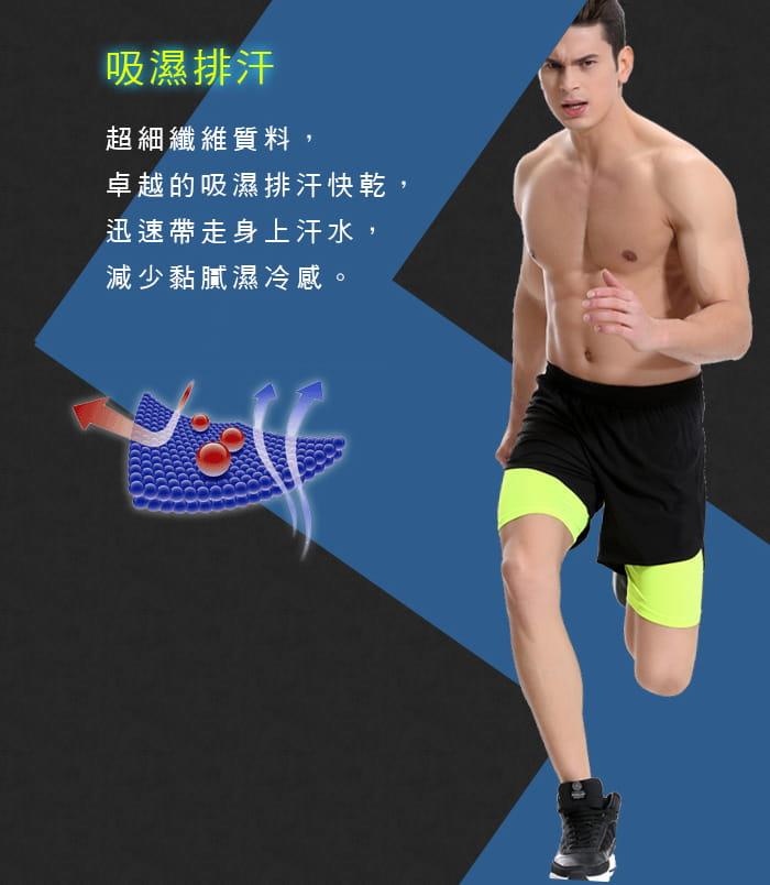 【Un-Sport高機能】專業吸排男用緊身五分褲-超值二入組(路跑/健身/籃球) 4