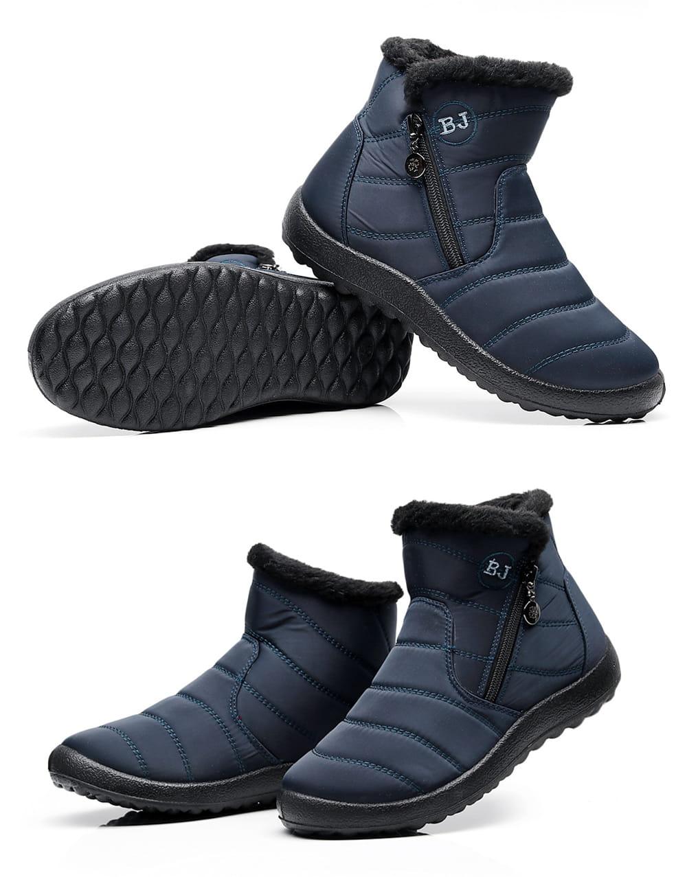 防水保暖防滑厚毛絨雪靴(36-42碼/3色可選) 14