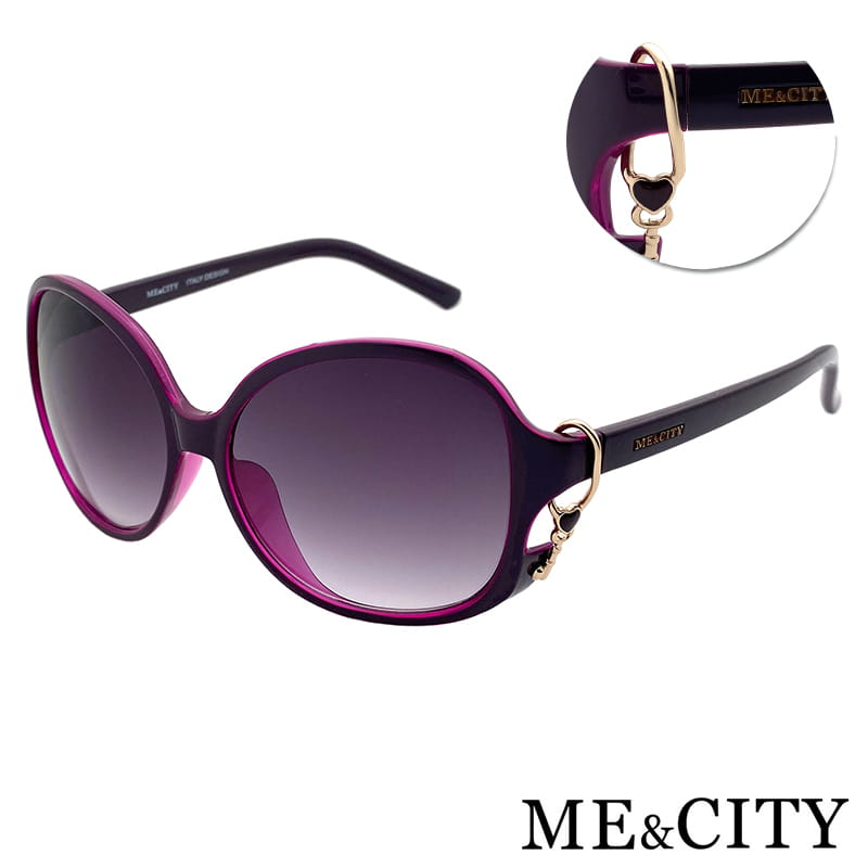 【ME&CITY】 甜美心型鎖鍊太陽眼鏡 抗UV (ME 1223 H02) 0