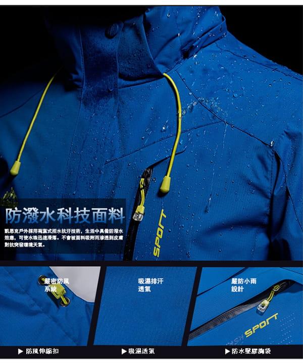 男女戶外機能防風防水衝鋒外套 1