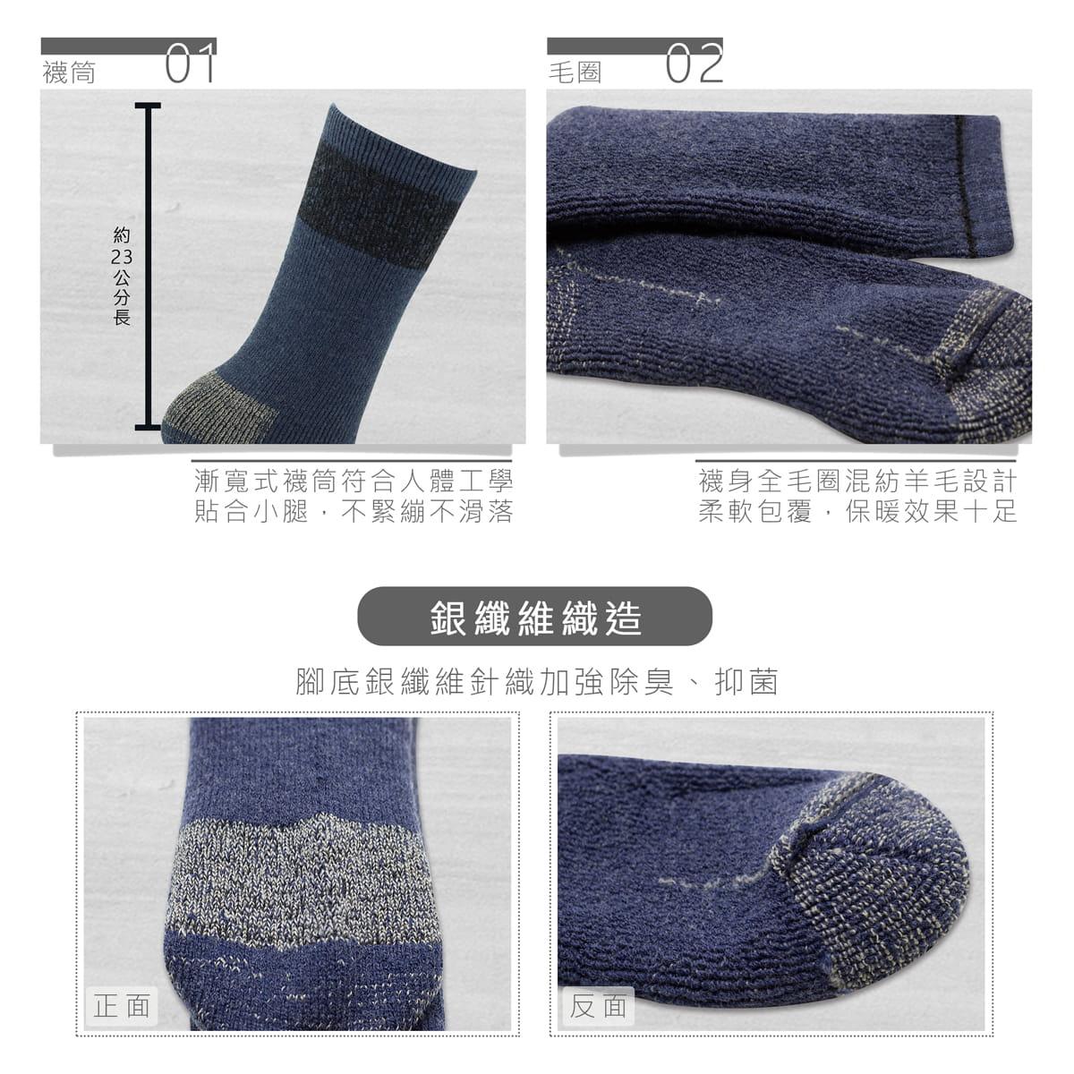 【Lin】戶外登山襪三雙組 3