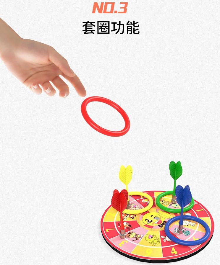乒乓球訓練器  0.9米+彩色底座+6球(含拍、飛鏢、套圈) 9