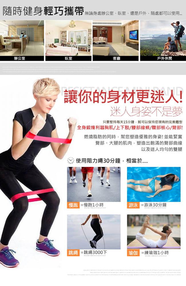 台灣製造10~20磅環狀彈力帶    翹臀圈LATEX乳膠阻力繩 2