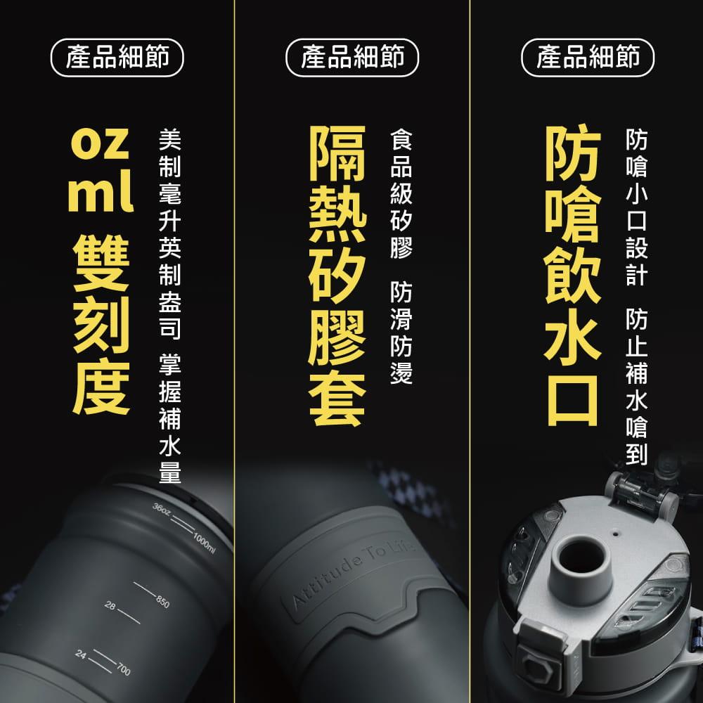 美國Tritan防摔運動水壺-700mL/1000mL-4色 3