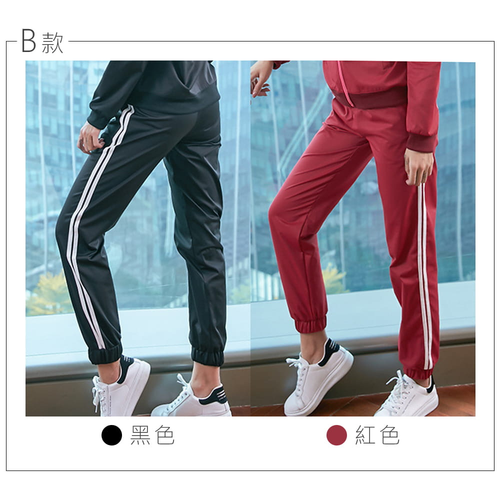 【NEW FORCE】簡約時尚彈力女運動束口長褲-多款多色可選 6