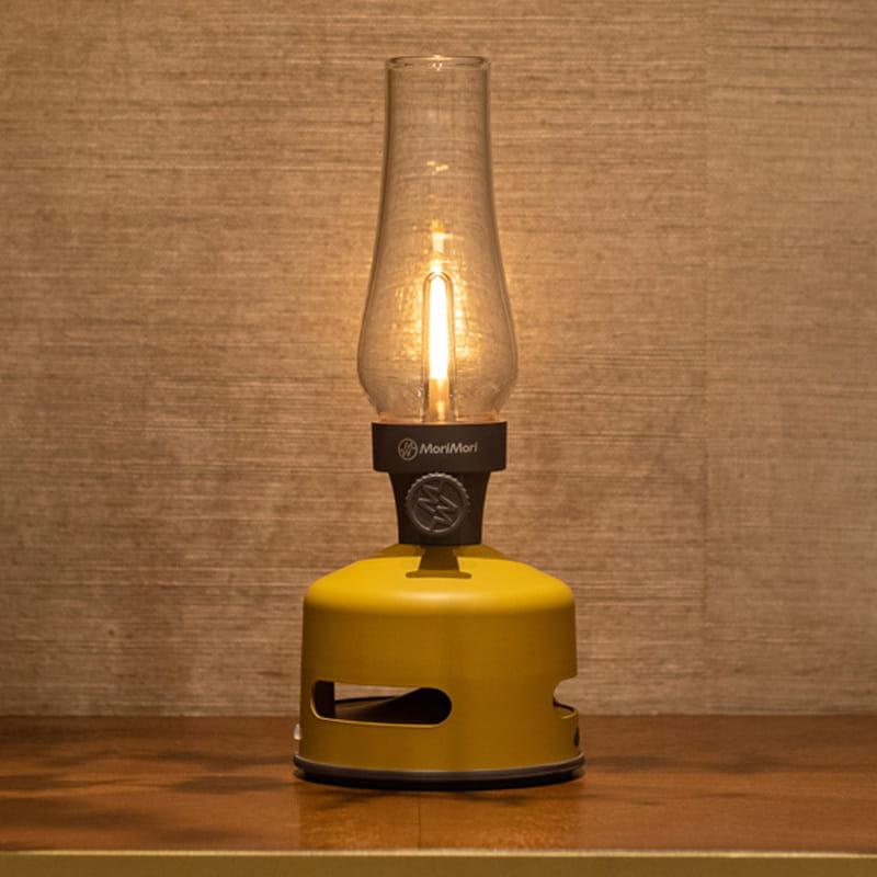 MoriMori【LED煤油燈藍牙音響-黃色 】 IPX4防水 造型燈