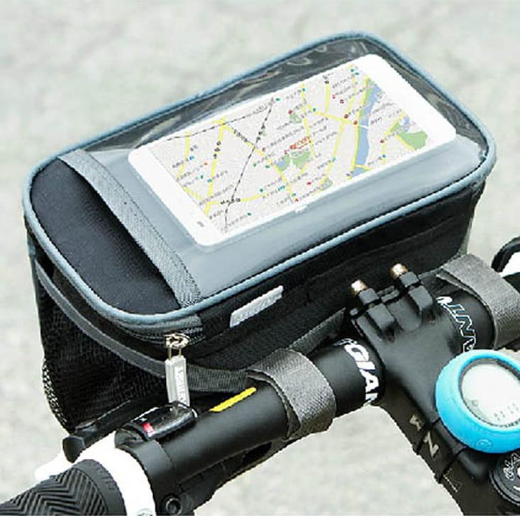 大容量自行車手機觸控立體方包