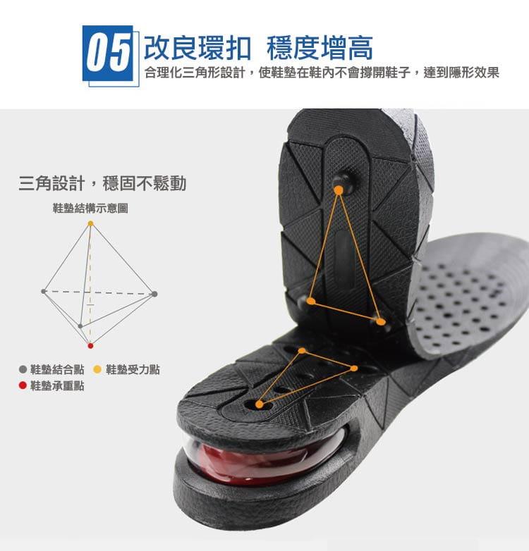 三段式氣墊增高鞋墊可自行調整高度 10