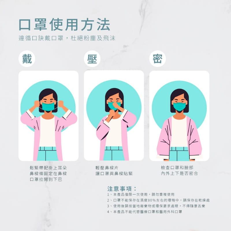 HANLIN高密度熔噴三層防護口罩 【非醫療級口罩】口罩 可塑型 可調鼻夾 透氣舒適 阻擋飛沫灰塵 4