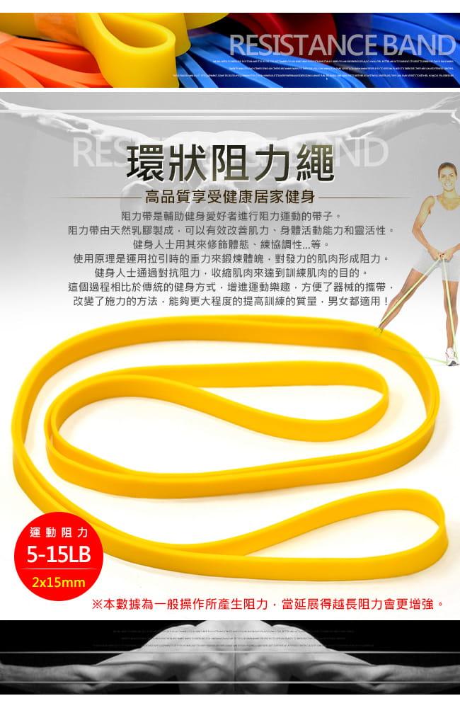 台灣製造15磅大環狀彈力帶   (LATEX乳膠阻力繩.手足阻力帶) 1