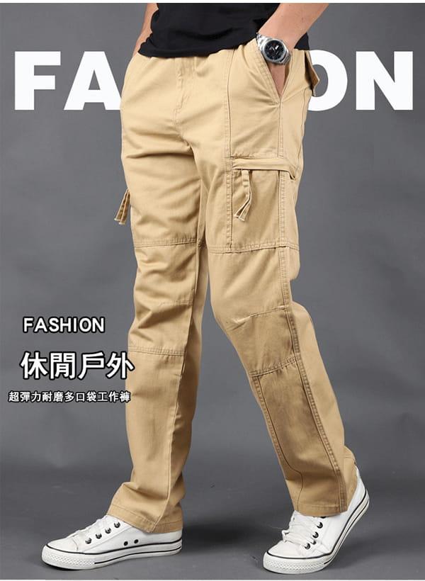 超彈力耐磨多口袋工作褲 1