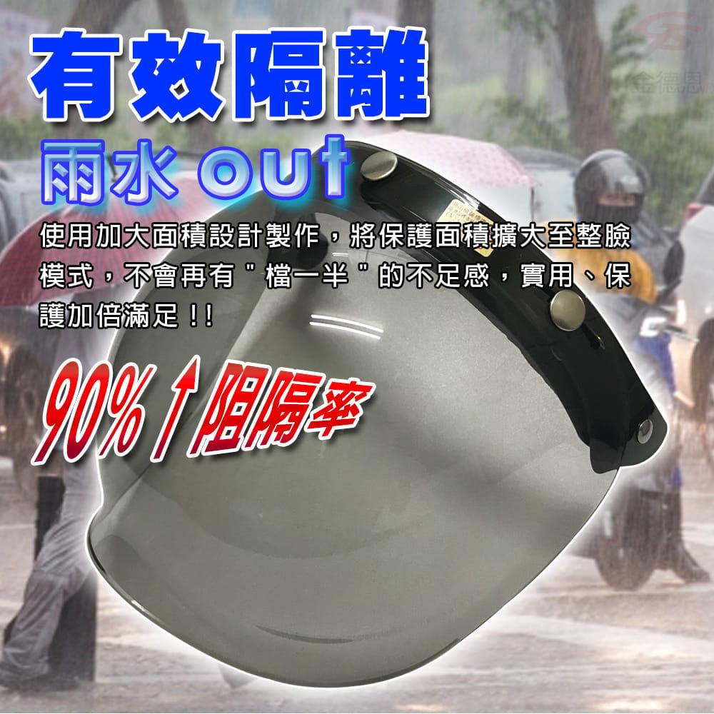 【金德恩】MIT 曲面安全帽防護鏡片 8