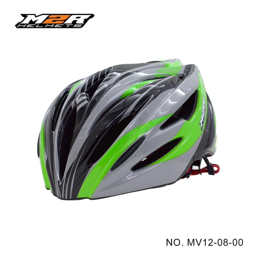 【路達自行車衣館】M2R 》MV12專業自行車安全帽 MV12-08-00 ★黑綠 0