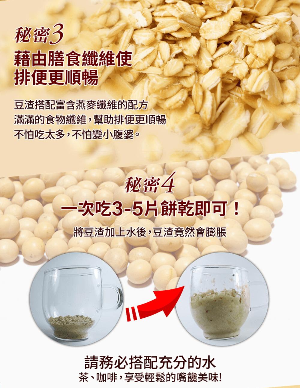 【Guilt FREE SWEETS】【銷售破百萬】日本超人氣美身豆渣餅乾60片裝(添加燕麥)-新裝上市 10