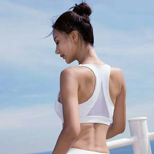 運動內衣大尺碼L-XL 背心上衣 運動韻律有氧跑步瑜珈LETS SEA-KOI 1