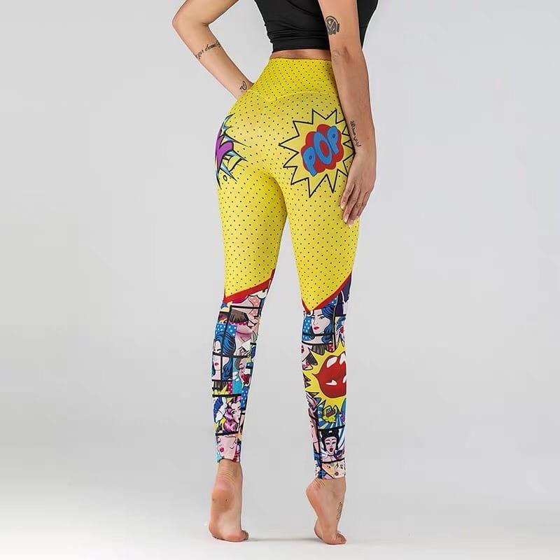 運動褲韻律有氧跑步瑜珈LETS SEA-KOI獨特時尚漫威卡通印花設計 3