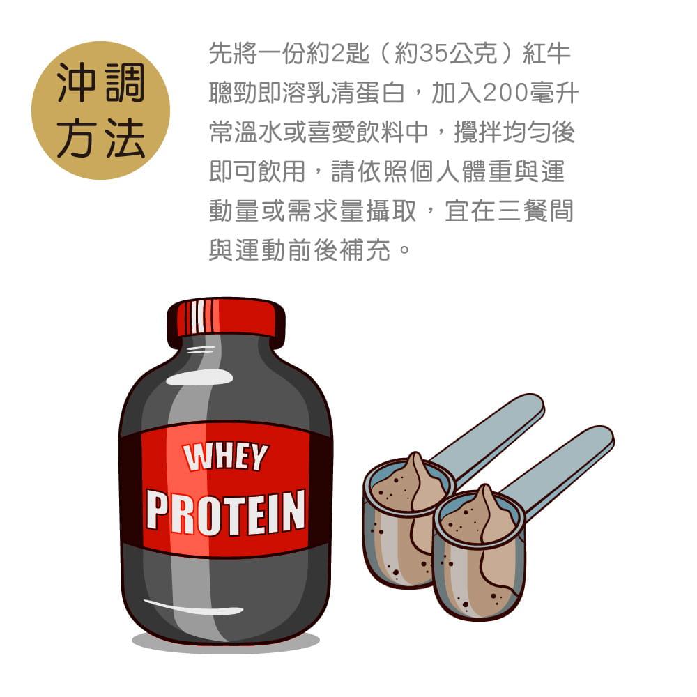 紅牛聰勁即溶乳清蛋白-可可風味隨手包35G 4