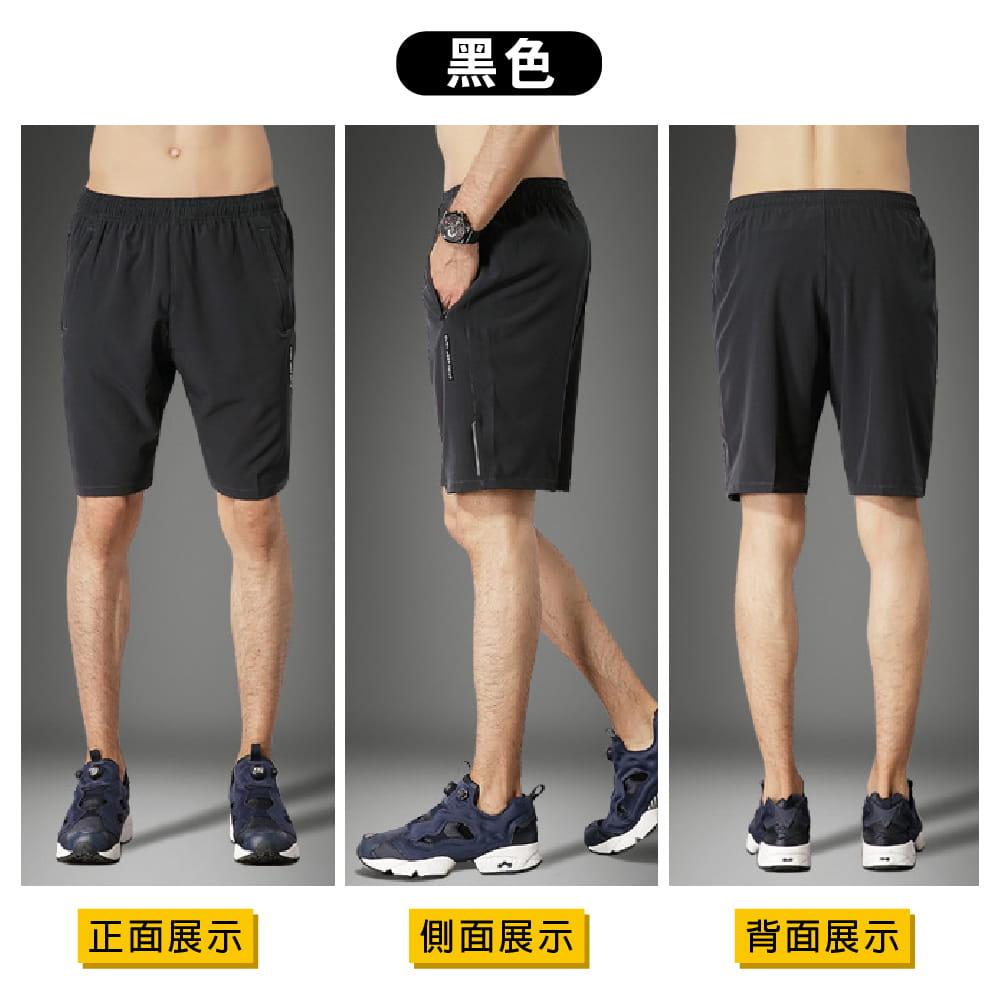 【NEW FORCE】清爽透氣速乾健身短褲-2色可選 6