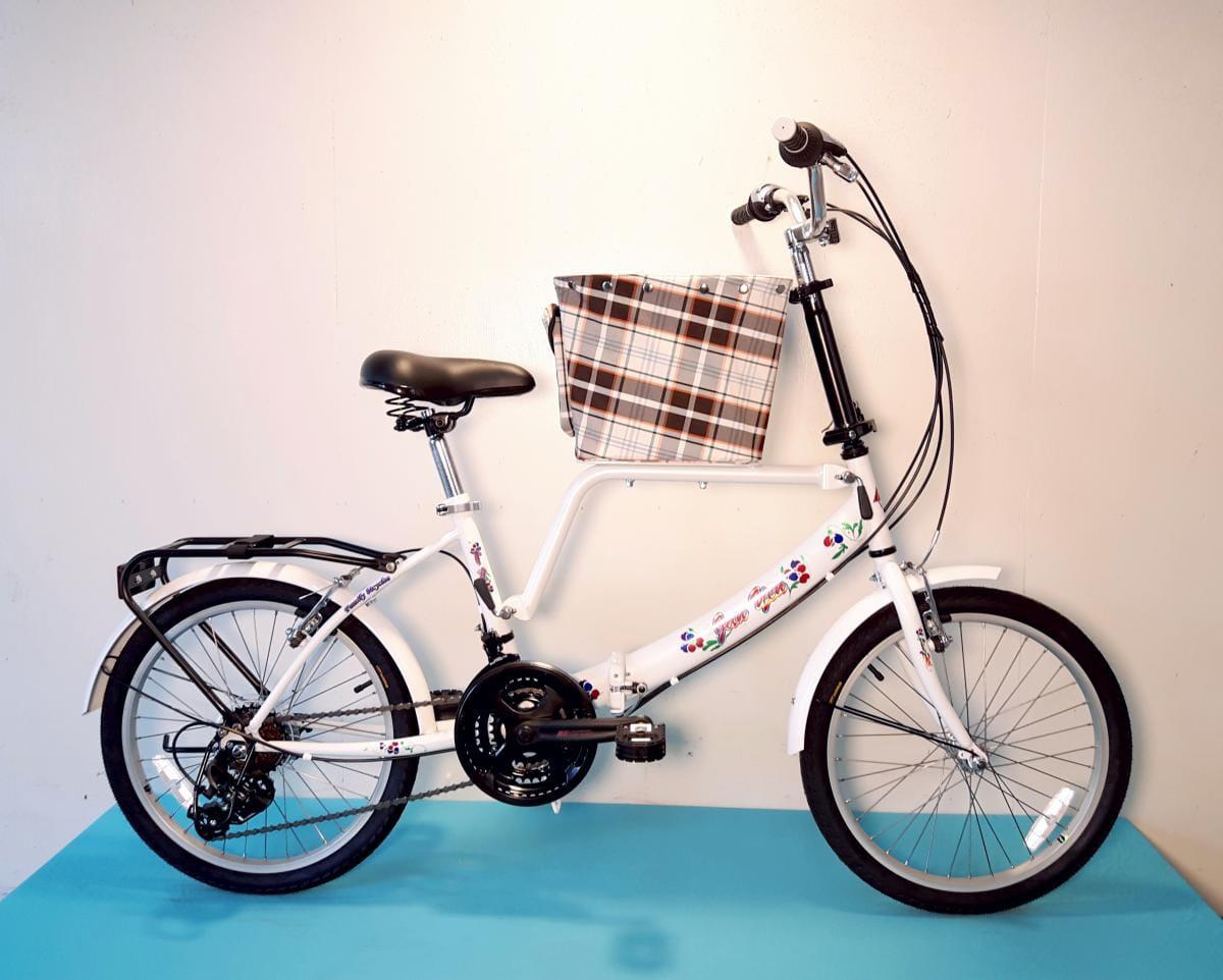 台製 20吋 21速 SHIMANO 摺疊 小籃 寵物腳踏車 4