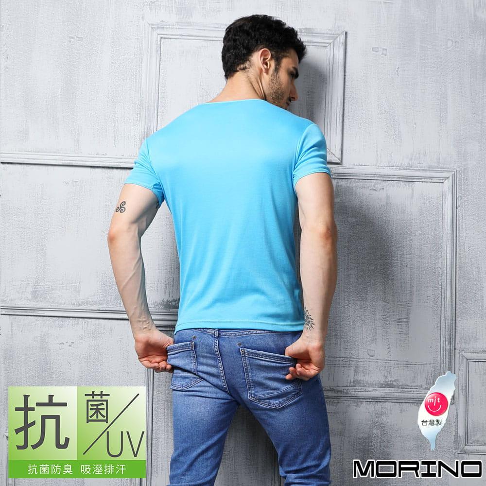 【MORINO摩力諾】抗菌防臭速乾短袖V領衫 8