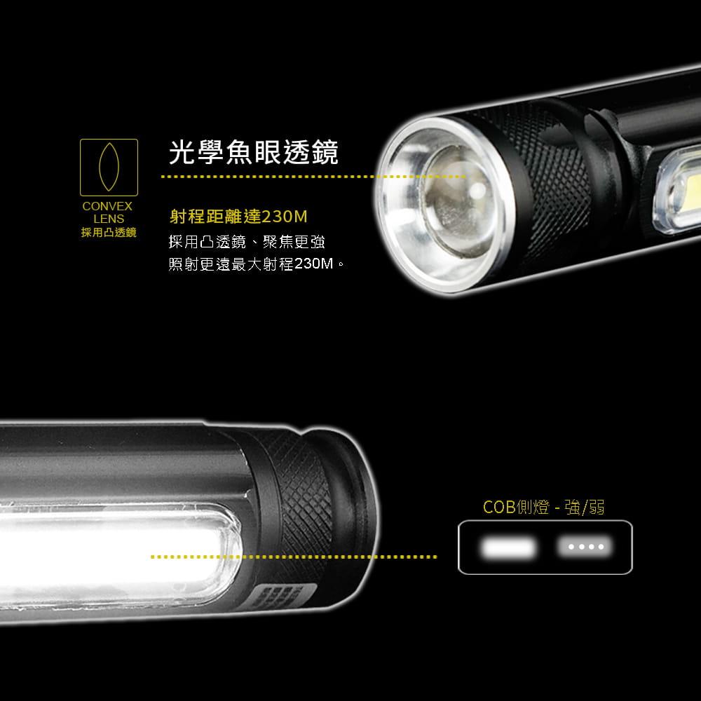 【RONEVER】PA-6充電式工作燈手電筒 3
