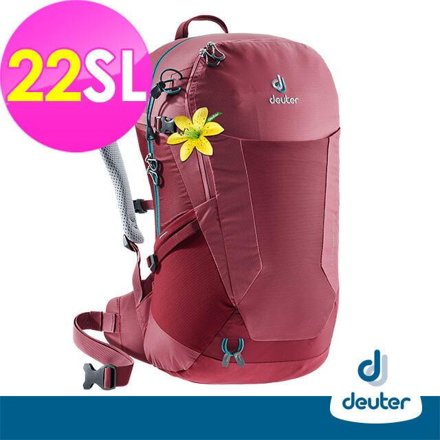 (登山屋)deuter 德國FUTURA透氣網架背包/健行包22SL(3400018莓紅) 0