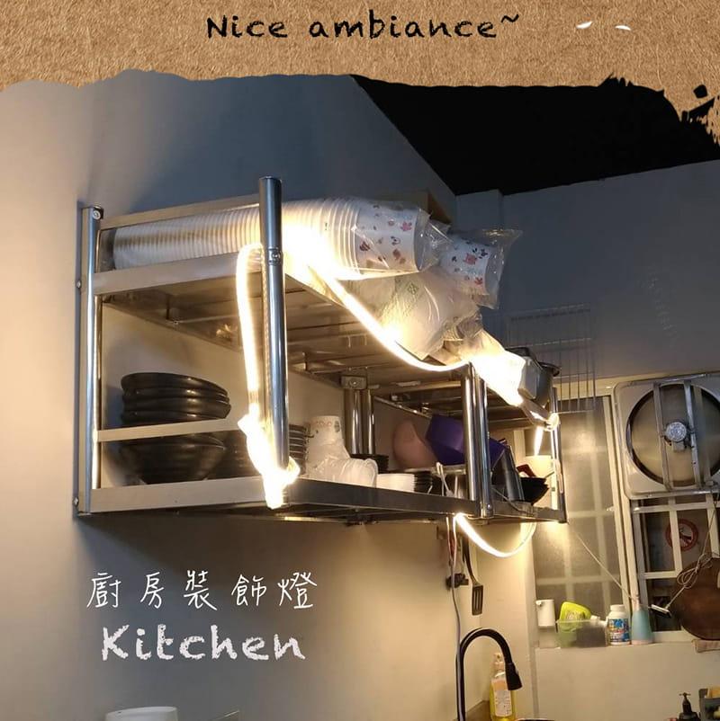 【RONEVER】暖光60顆燈珠LED防水燈條-1M 8