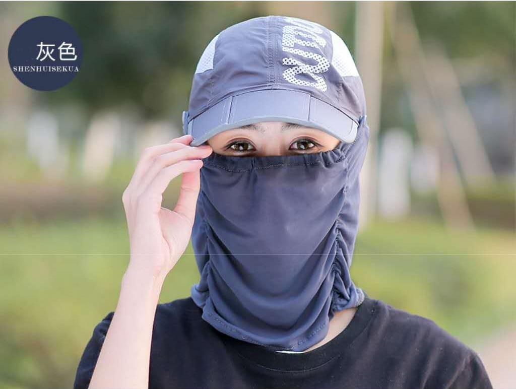 網頂全罩式可折疊防曬帽 夏天\遮臉\鴨舌太陽帽\戶外\折疊\紫外線\電動車\遮陽帽/自行車/腳踏車 16