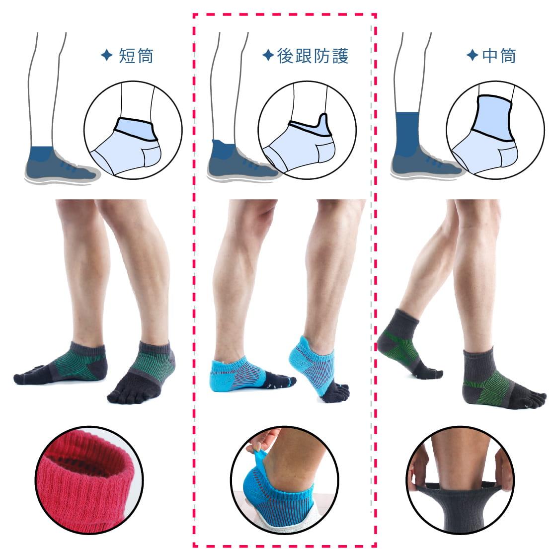 【FAV】後跟防護加壓五指運動襪-1雙入 7