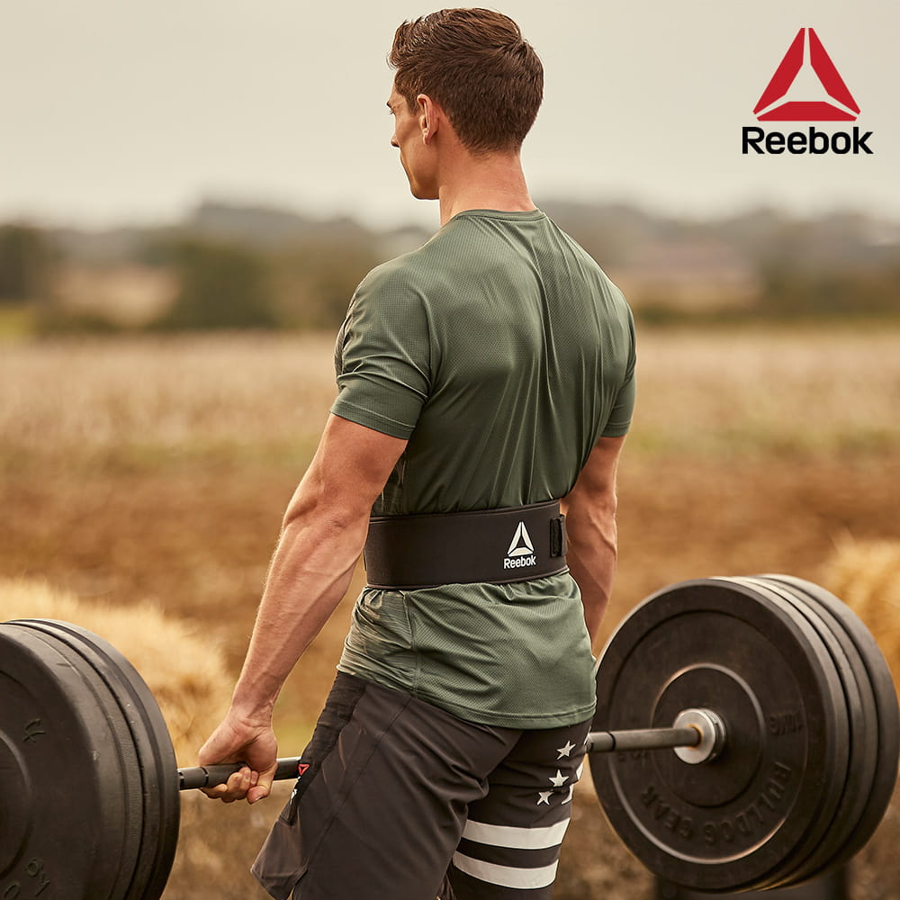 【Reebok】舉重訓練腰帶(XS-XL五尺寸)