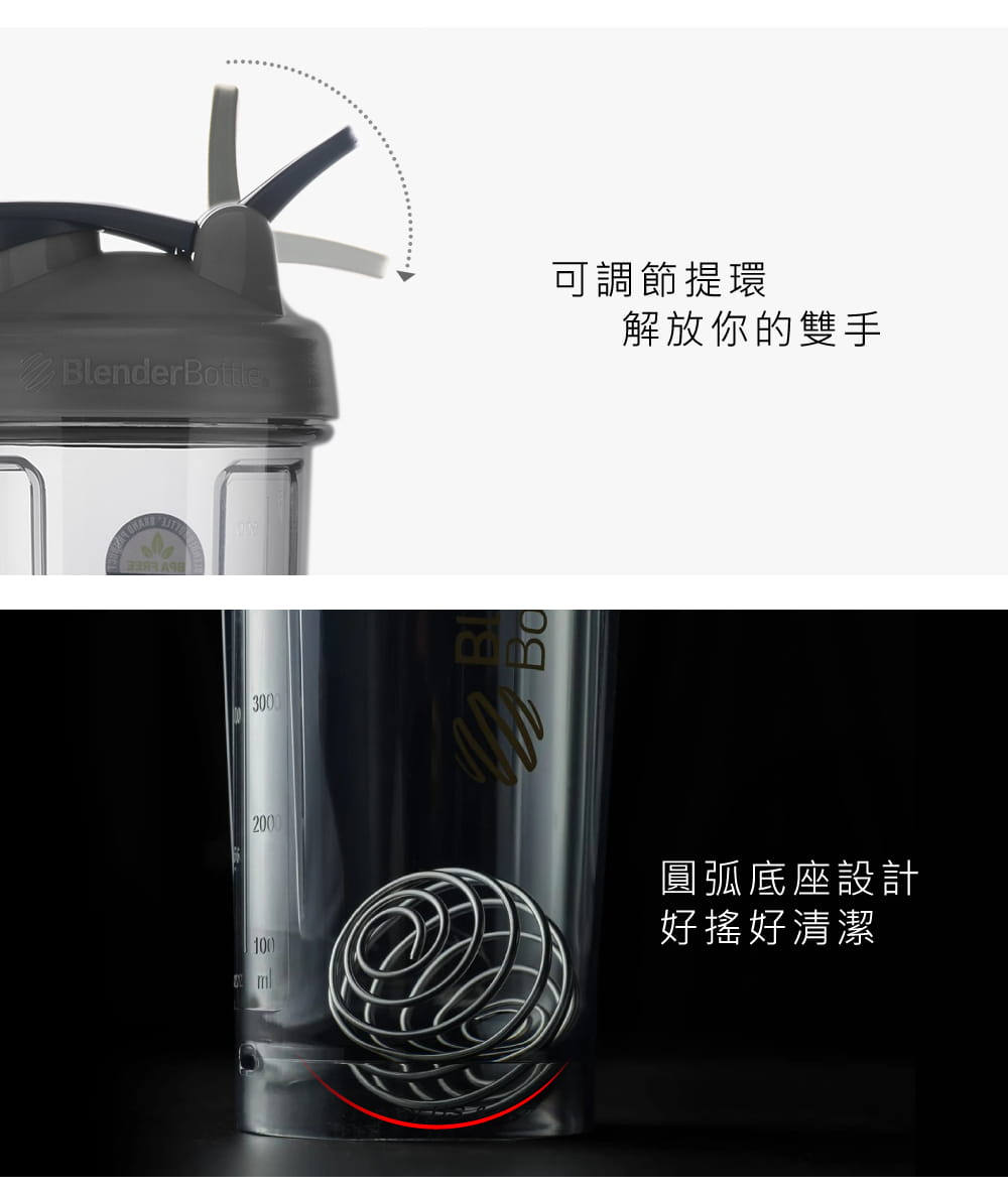 【Blender Bottle】Pro28系列|Tritan|透亮搖搖杯|28oz|顏色隨機 3