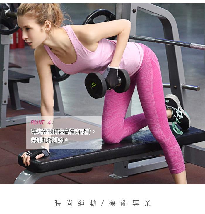 【Un-Sport高機能】高彈力AB紗透氣托肌七分褲(瑜伽/健身/跳舞) 4