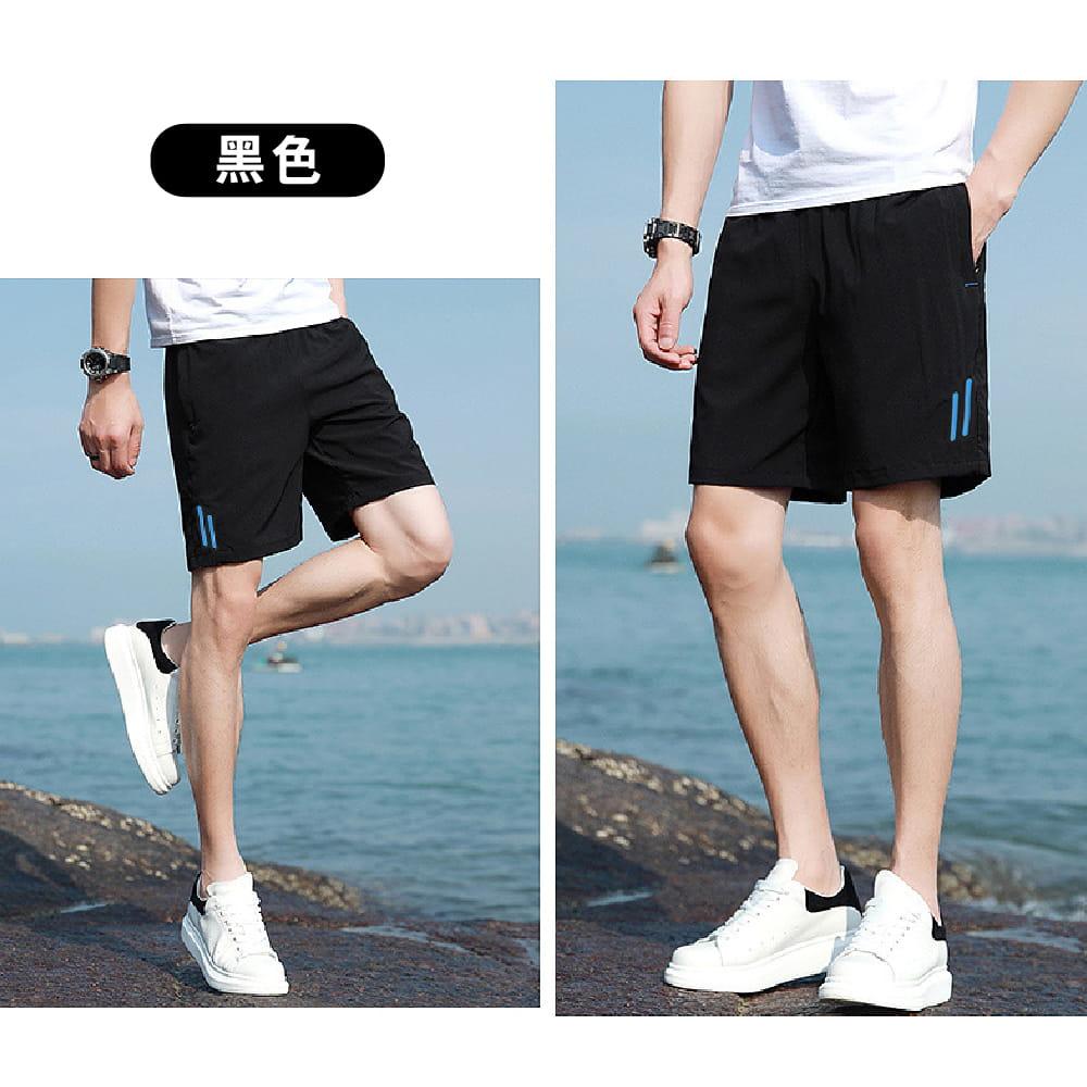 【NEW FORCE】彈性修身鬆緊腰帶男短褲-2色可選 5