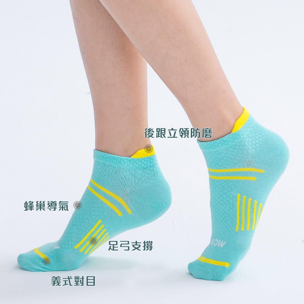 萊卡棉吸排透氣足弓機能平口襪(男/女款) 3