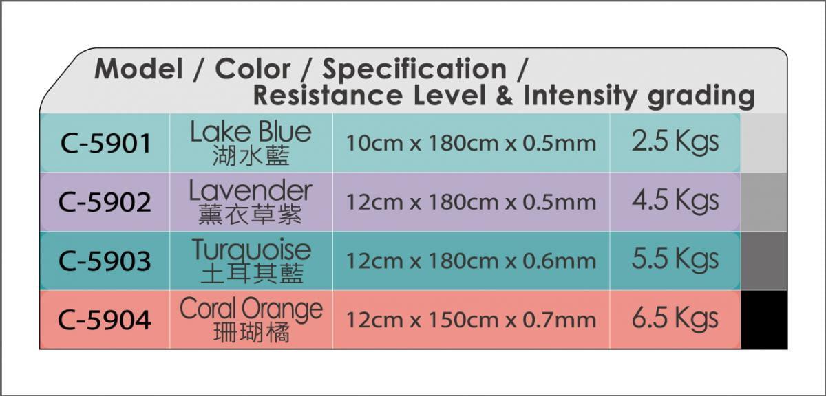 【CAIYI 凱溢】台灣製造 ALEX C-59 新式彈力帶-水藍/紫(只) 6