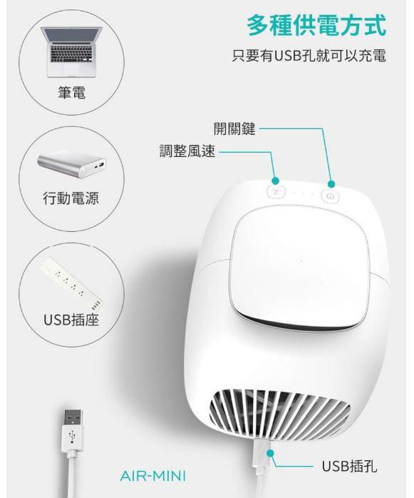 【好旅行】【AIR-MINI】迷你桌面空調扇|隨身水冷風扇 8