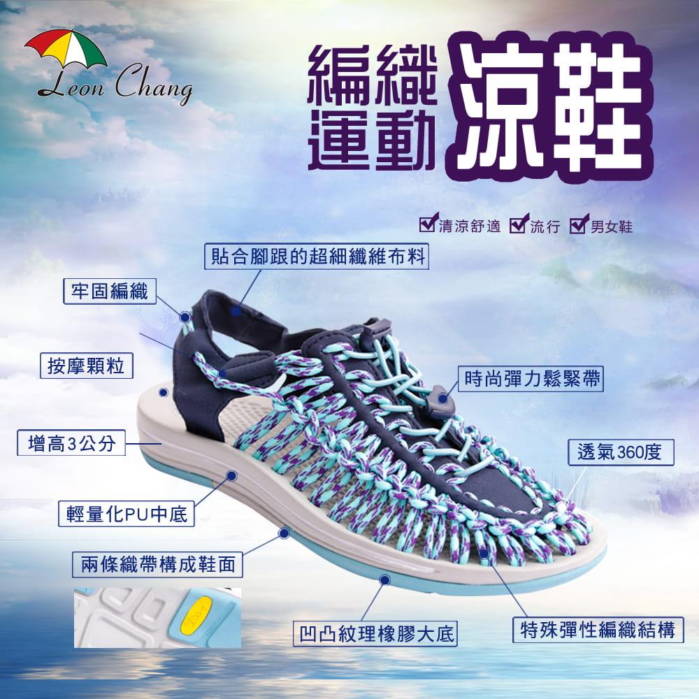 【Leon Chang】【LC雨傘】 編織運動涼鞋 0