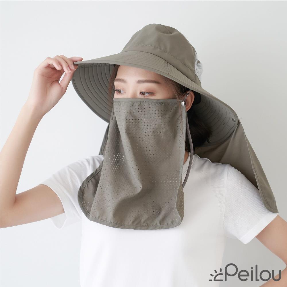 【Peilou】UPF50+多功能防潑水遮陽帽-男女款(3款可選) 1