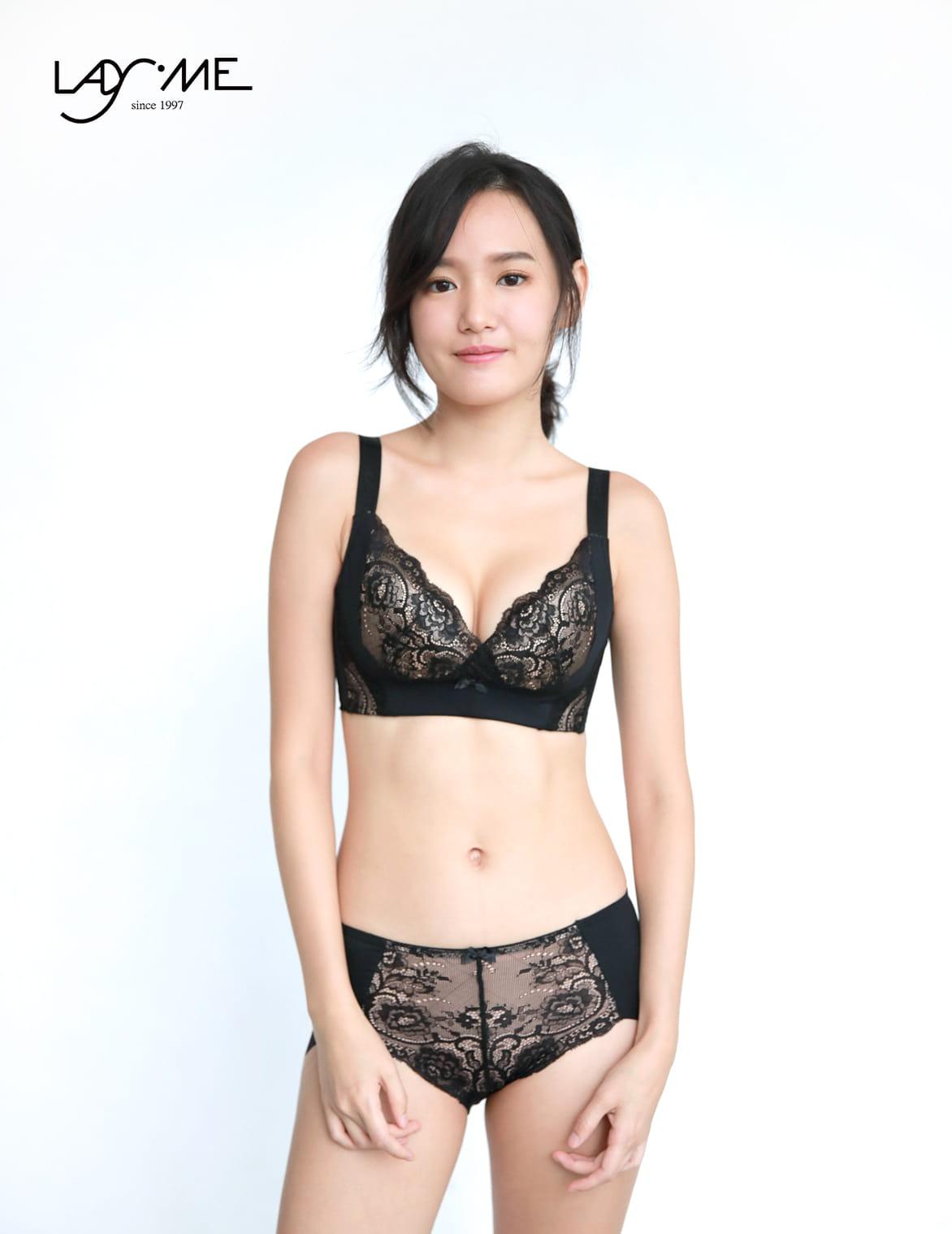 【LadyMe】【大罩杯】巴黎情人-浪漫黑 0
